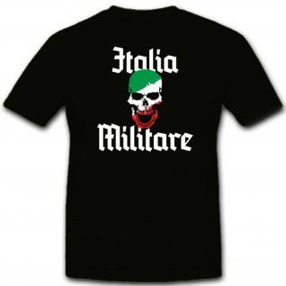 Italia Militär Armee Totenschädel Soldat Kämpfer- T Shirt #7319