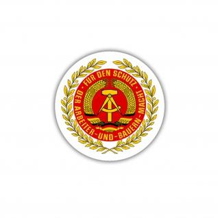 Aufkleber/Sticker NVA Wappen DDR Deutschland Emblem Abzeichen 7x7cm A1695