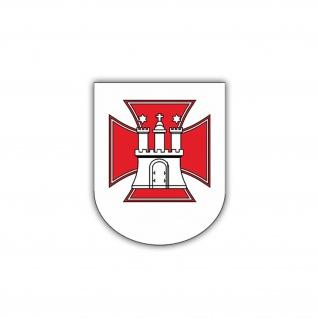 Aufkleber/Sticker VBK 10 Verteidigungsbezirkskommando Hamburg 7x6cm A1274