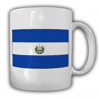El Salvador Fahne Flagge República de El Salvador- Tasse Becher Kaffee #13467