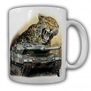 Tasse Lukas Wirp Leo 2 mit Leopard Panzer Bundeswehr Gemälde PzBtl Maler #23393
