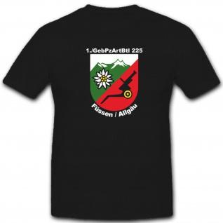 1 GebPzArtBtl 225 Gebirgspanzerartilleriebataillon Bundeswehr - T Shirt #4115