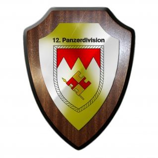 12 Panzerdivision PzDiv Einheit Kompanie Militär Abzeichen Wappenschild #19865