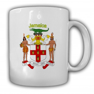 Jamaika Wappen Emblem Jamaica Commonwealth of Nations Karibik Becher #13522