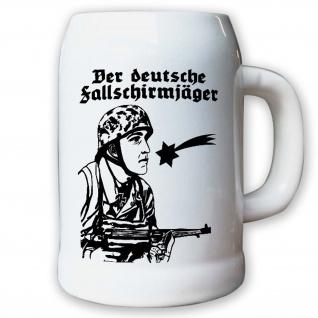 Krug / Bierkrug 0, 5l - der Deutsche Fallschirmjäger Heer Soldat WK 2 #10112 K