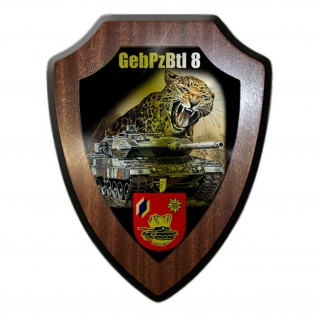 Wappenschild Lukas Wirp GebPzBtl 8 Gebirgs Leopard 2A6 Panzer Bataillon #24431