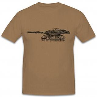 Leopard Panzer Turm drei Uhr stellung Bordkannone Glattrohr - T Shirt #12261
