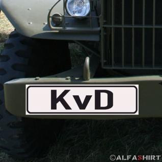 Magnetschild KvD Kraftfahrer vom Dienst für KFZ Fahrzeuge #A187