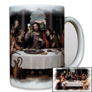 Das letzte Abendmahl Gott Jesus Christi Tafel Glaube Religion - Tasse #8117t
