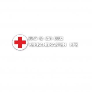 Aufkleber Set Bundeswehr Verbandkasten 6545-12-291-0002 Bordausstattung #A5528