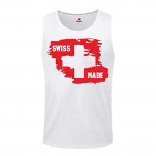Swiss Made-Schweiz Fahne Alpen Heimat Sport Trikot - Tanktop #7662