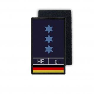 Polizeiobermeister Hessen 0- Bundespolizei BPOL PHM PHMin Blood 9, 8x6cm #31459