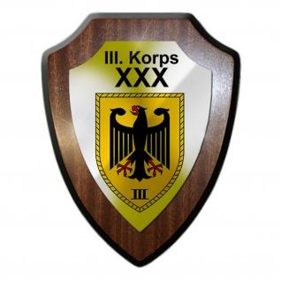 III Korps Bw Heer Koblenz Kompaie Einheit Militär Abzeichen Wappenschild #19973
