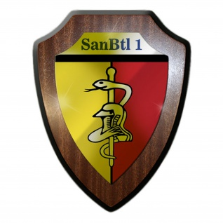 Wappenschild SanBtl 1 Sanitätsbataillon Bundeswehr Wappen Abzeichen Sani #22290