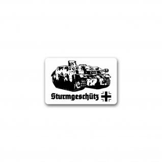 Aufkleber/Sticker Sturmgeschütz Artilleriegeschütz Panzerfahrzeuge 11x7cm A2690