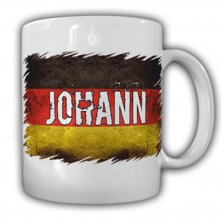 Tasse Johann Kaffebecher Deutschland Name Nation Becher Personalisiert #22185
