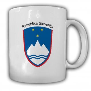 Republik Slowenien Ljubljana Wappen Emblem Kaffee Becher Tasse #13905