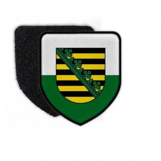 Patch Sachsen Abzeichen Heimat Fahne Wappen Freistaat Dresden Aufnäher #24690