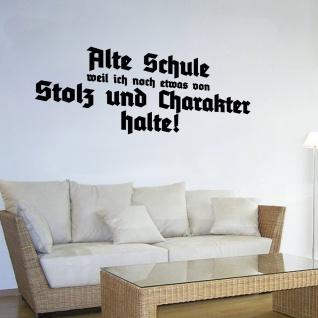 Wandtattoo Alte Schule Charakter Einstellung Wand Aufkleber 120cm x 45 cm#A4914