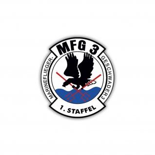 Aufkleber/Sticker MFG 3 Staffel 1 Wappen Abzeichen Marineflieger 7x6cm A1156