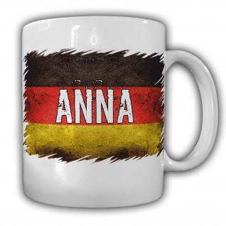 Tasse Namen Anna Kaffeebecher Deutschland Fahne Flagge#22052
