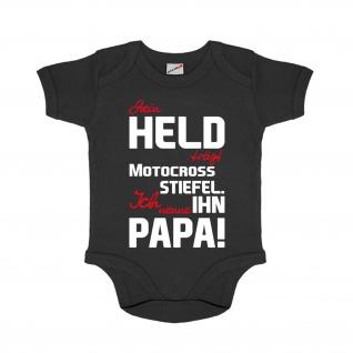 Baby Body Mein Held der Papa Strampler Body Neugeborens Nachwuchs #27846