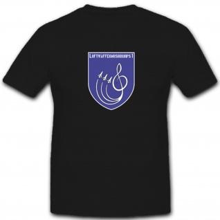 Luftwaffenmusikkorps 1 Bundeswehr Wappen Abzeichen Orchester - T Shirt #4262