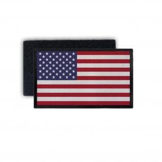 Patch7, 5x4, 5 USA Fahne Army Amerika Flagge Abzeichen Uniform Sterne rot #35970