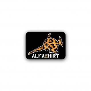 Aufkleber/Sticker Leopardenfell Sägefisch Fisch Firmenlogo Leo Fell 10x7cm A2482