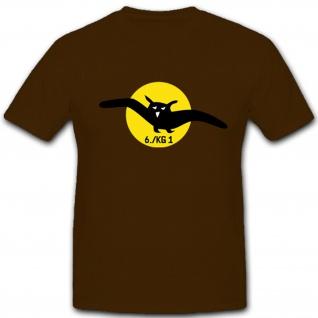 6. KG 1 6. Staffel Kampfgeschwade 1 Luftwaffe Wappen Wk 2 - T Shirt #4640