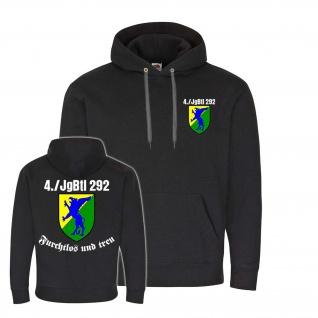 Hoodie 4 JgBtl 292 Jäger-Bataillon Bundeswehr BW Btl Abzeichen Wappen #24524