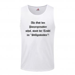 Panzergrenadier Gott Militär Wk Erschaffen Schuf Deutschland Spruch Wh Armee Heer - Tanktop / Unterhemd #5679