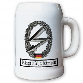 Krug / Bierkrug 0, 5l - Barettabezeichen EloKa Elektronische Kampfführung #10913