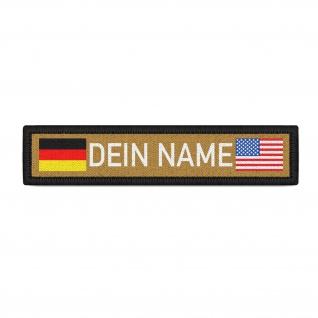 Deutschland USA Namenschild Patch mit Namen Navy Name Patch Aufnäher #36889