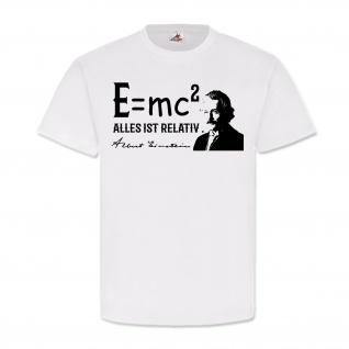 Albert Einstein Alles ist relativ Erfinder Legende E=mchoch2 T Shirt #25765
