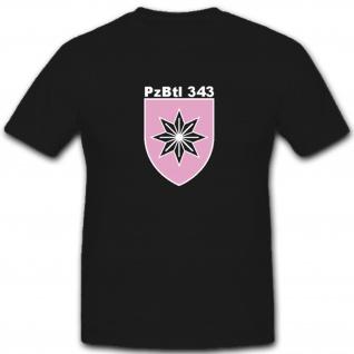 PzBtl 343 Panzerbataillon Bataillon Panzer Wappen Abzeichen - T Shirt #4880