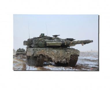 Poster M&N Leopard Panzer Zug im Winter 2A6 Bundeswehr Plakat ab30X20cm#30255