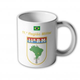 11ª Regiao Militar Brasilien RM Brasao Army Abzeichen Infanterie Tasse #33397