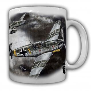 Tasse Lukas Wirp Me109 & Me262 Jagd-Flugzeug Luftwaffe Jagdgeschwader #24402