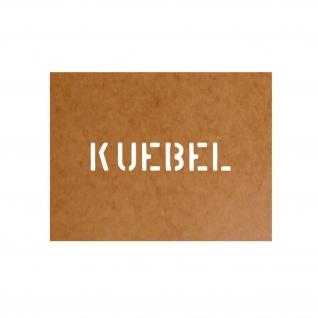 Kübel Schablone Bundeswehr Ölkarton Lackierschablone 2, 5x12cm #15130