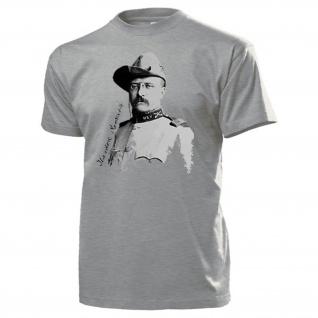 Theodore Roosevelt USA Präsident der Vereinigten Staaten Amerika T Shirt #14161