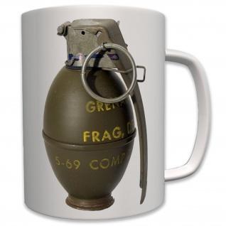 Handgranate Armee Militär Granate Spaß Bundeswehr Humor Explosiv - Tasse #7527