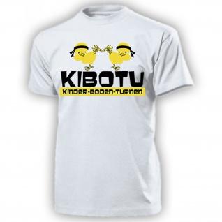 KiBoTu Kinder-Boden-Turnen Kindergarten 80er Kult Spaß Karate - T Shirt #15009