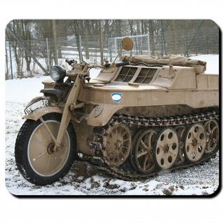 Kettenrad Motorrad Kettenantrieb Deutschland Oldtimer Militär Mauspad #9180