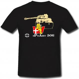 sPzAbt 506 WH Tiger Schwere Panzer Abteilung Wappen Abzeichen WK - T Shirt #1298