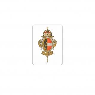 Aufkleber/Sticker Herzogtum Salzburg Wappen Kurfürstentum Salzburg 7x7cm A3326