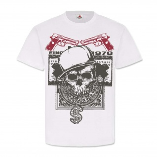 Gangster Skull Dollar Big Money Rap Rich Pistolen Knarren #24891