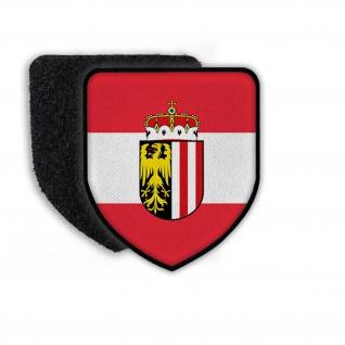 Patch Flagge von Österreich Austria Flagge Wappen Aufnäher Land Staat #21456
