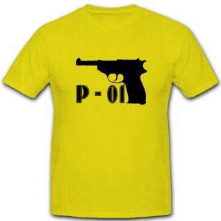 P-01 Pistole Schusswaffe Waffe Munition - T Shirt #5354
