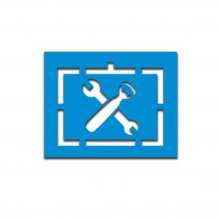 Lackierschablone Taktisches Zeichen Grundgesetz Aufkleber 10x14cm#A5686